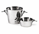 "Mary Jurek Primavera 5.5"" X 5"" Bucket - Leaf - Stainless Steel"