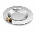 "Mary Jurek Aphrodite 8"" Shallow Dish - Brass Turtle - Stainless Steel"