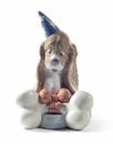Nao Porcelain Happy Birthday! Dog Figurine