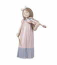 "Nao Porcelain ""Girl with violin"" Figurine by Lladro"