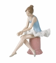 "Nao Porcelain ""Sitting ballet dancer"" Figurine by Lladro"