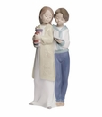 "Nao Porcelain ""Learning together"" Figurine by Lladro"