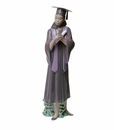"Nao Porcelain ""Graduation Joy (Treasured Memories)"" African American Girl Graduate Figurine by Lladro"