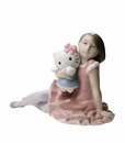 "Nao Porcelain ""Playing with Hello Kitty"" Figurine by Lladro"
