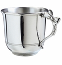 Salisbury Pewter Engravable Baby Cup with Bow Handle