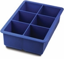 Tovolo King Cube Silicone Ice Cube Tray - Blue