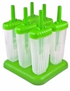 Tovolo Groovy Ice Pop Molds - Green (Set of 6)