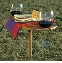 Tovolo Picnic Wine Table Bamboo Color