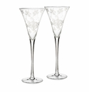 Waterford Marquis Crystal Flora Toasting Flute Pair