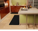 Wellnessmats Anti-Fatigue Kitchen Floor Mat-Black-6x2