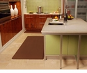Wellnessmats Anti-Fatigue Kitchen Floor Mat-Brown-6x3