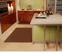 Wellnessmats Anti-Fatigue Kitchen Floor Mat-Brown-5x4