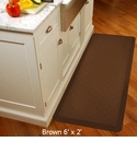 Wellnessmats Cushioned Kitchen Floor Mat - Brown - Trellis 6'x2'