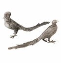 Andrea by Sadek Aluminum Pheasants Sculptures (Set of 2)
