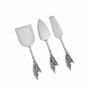 Andrea by Sadek Metal Cheese Servers Olive
