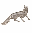 "Andrea by Sadek 12"" L Antique Silver Plated Fox"
