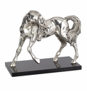 "Andrea by Sadek 12"" L Antique Silver Plated Horse"