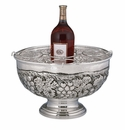 "Andrea by Sadek Silver Plated Grape Wine Cooler 16.5"" D"