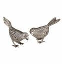 Andrea by Sadek Small Silver Plated Bird Pair