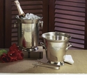 Dessau Home Antique Silver Ice Bucket with Tongs