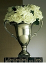 Dessau Home Antique Silver Trophy Vase