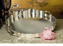 Dessau Home Antique Silver Hammered Scalloped Tray
