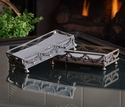 Dessau Home Antique Silver Garland Guest Towel Holder