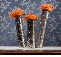 Dessau Home Antique Silver Slanted Cylinder Vases