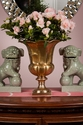 Dessau Home Antique Brass Fluted Vase
