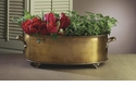 Dessau Home Antique Brass Oval Planter with Handles