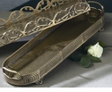 Dessau Home Antique Brass Oblong Footed Tray