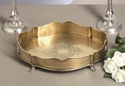 Dessau Home Antique Brass Chippendale Gallery Tray