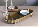 Dessau Home Antique Brass Oval Footed Tray