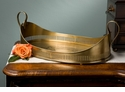 Dessau Home Antique Brass Oval Tray with Loop Handles
