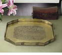 Dessau Home Antique Brass Rectangular Gallery Tray