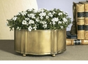 Dessau Home Antique Brass Planter with Footed Base