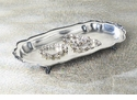 Dessau Home Antique Silver Footed Chippendale Tray