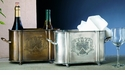 Dessau Home Antique Silver 2-Bottle Holder
