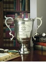 Dessau Home Antique Silver University Trophy Vase