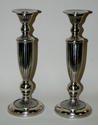 Dessau Home Antique Silver Ribbed Candleholder