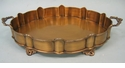 Dessau Home Antique Brass Scalloped Footed Gallery Tray