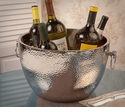 Dessau Home Nickel Aluminum Double Walled Hammered Cooler