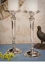 Dessau Home Nickel Aluminum Pillar Candleholder