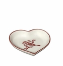 "J. Willfred by Andrea by Sadek Red Bird Toile 3"" Heart Dishes (Set of 4)"