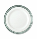 Match Italian Pewter Convivio Salad or Dessert Plate White