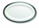 Match Italian Pewter Convivio Oval Serving Platter White