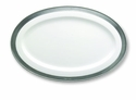 Match Italian Pewter Convivio Oval Serving Platter Small White
