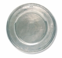 Match Italian Pewter Scribed Rim Large Charger Plate