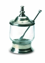 Match Italian Pewter Condiment Jar with Spoon