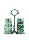 Match Italian Pewter Cutwork Salt and Pepper Caddy